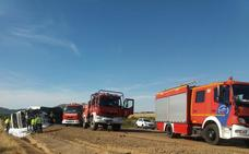 Reabierta al tráfico la A-66 en Torremejía tras la retirada del camión accidentado