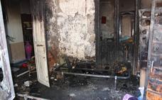 Herida grave en el incendio de su casa en Guareña