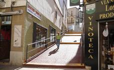Se reanudan las obras de las escaleras de Alzapiernas, que estarán listas en dos meses