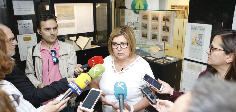 La presidenta de la Diputación aboga por resolver pronto el uso de Hospital Provincial