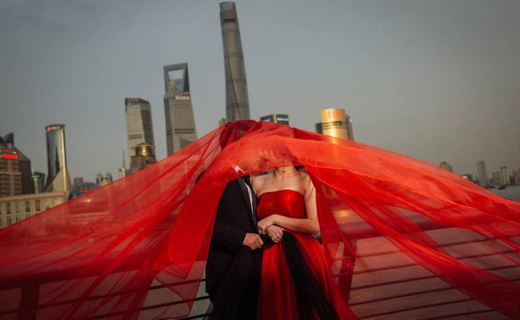 Las sesiones de fotos preboda son un nuevo ritual nacional en China