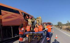 Un zorro provocó el accidente del autobús que salió de la vía en Membrío