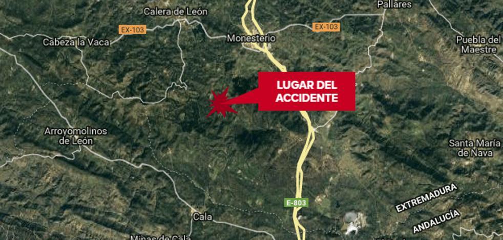 Muere un vecino de Monesterio de 47 años al salirse de la vía en el camino que une esta localidad con Cala