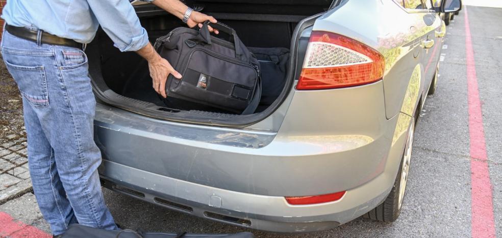 Coche compartido, equipaje etiquetado