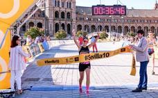 Mamen Ledesma, pleno de triunfos en la Sevilla 10k