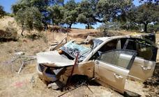 Una mujer resulta herida crítica en una salida de vía cerca de Monesterio