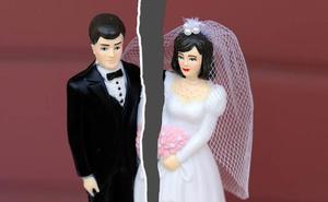 Los divorcios aumentan en Extremadura un 8,3 por ciento