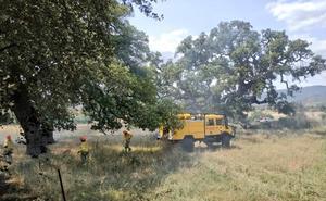 Desactivado el nivel 1 de peligrosidad en el incendio forestal en San Martín de Trevejo
