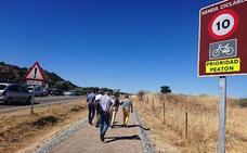La Diputación estudiará ampliar el camino de Millanes a Casas de Belvís