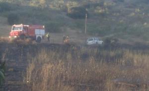 Estabilizado el incendio en Jerez de los Caballeros