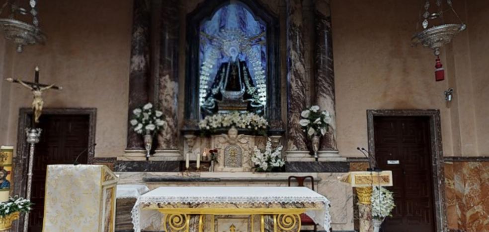 Ya se puede visitar a la Virgen de la Soledad desde casa