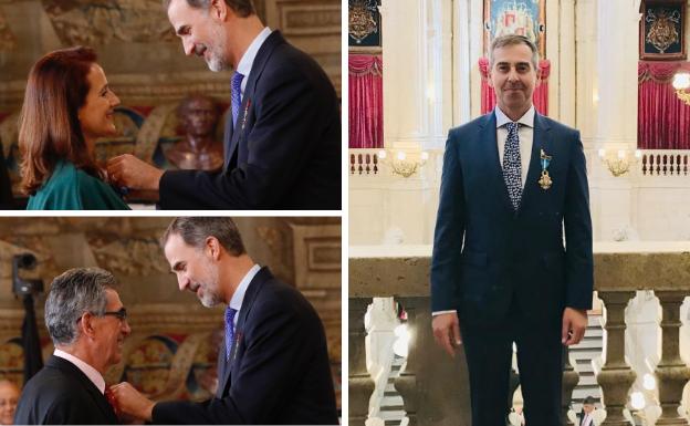 Felipe VI condecora a tres extremeños con la Orden del Mérito Civil