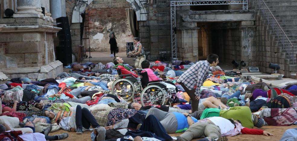 Los ensayos de 'Sansón y Dalila' copan el Teatro Romano