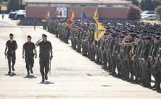 Acto de despedida del Contingente eFP V Letonia, en la Base 'General Menacho'