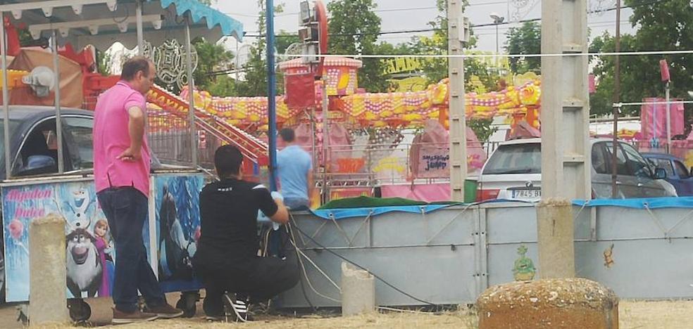 Un feriante sufre una descarga eléctrica en una atracción infantil de Badajoz