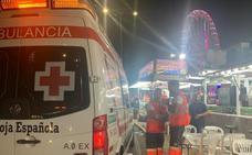 Cruz Roja atiende a un menor por consumo de droga y a un feriante por una descarga eléctrica