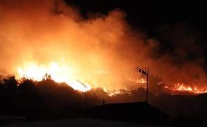 Un incendio mantuvo en vilo durante dos horas a vecinos de Navalmoral
