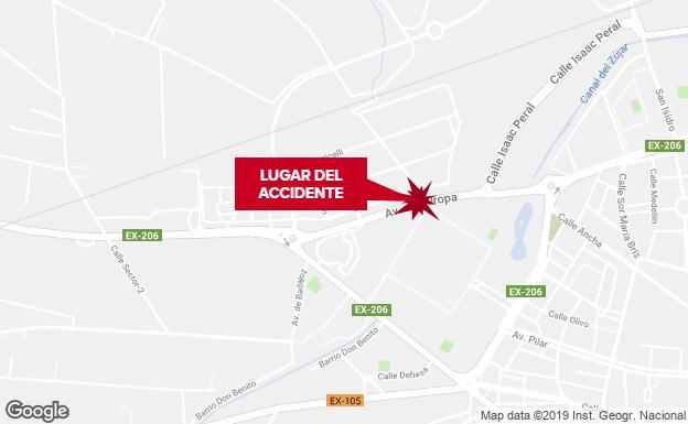 Herido grave un hombre de 56 años tras un atropello en Don Benito