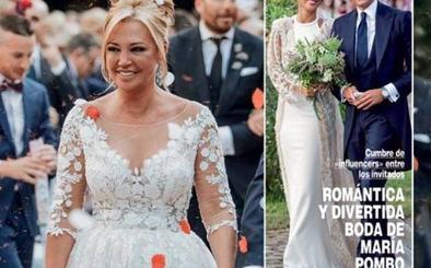 Así fue el vestido de boda de Belén Esteban