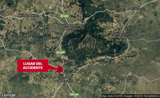 Fallece un hombre de 42 años, vecino de Pozuelo de Zarzón, tras un accidente de moto en la Ex-204