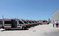 Cruz Roja recibe otras siete ambulancias para renovar su flota con fondos de la Junta y las diputaciones