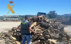 Recuperada una tonelada de corcho robado en Sierra de Fuentes