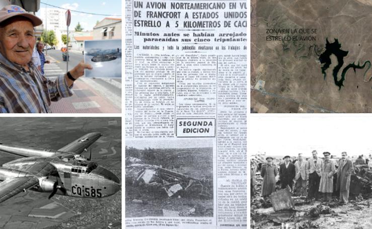Desde la moto de papel: 'Los que se iban 'a forrar' con el avión yanqui que se estrelló en Cáceres'