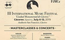 El III Festival Internacional de Música llega a Cáceres del 8 al 12 de julio
