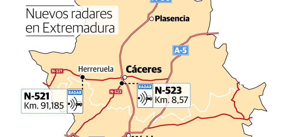 Las carreteras extremeñas estrenan cuatro radares fijos que ya multan