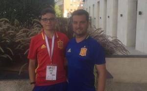 Lolo Bernabé y Martín Gamonales, en el Mundial