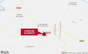 Un hombre resulta herido en un accidente al volcar su vehículo en Fuenlabrada de los Montes