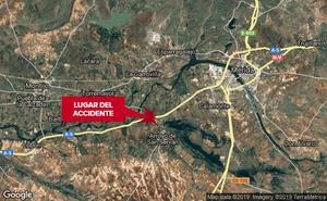 Una mujer de 31 años resulta herida en una salida de vía a la altura de Arroyo de San Serván