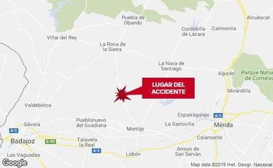 Herido grave un motorista de 60 años tras salirse de la vía en Montijo