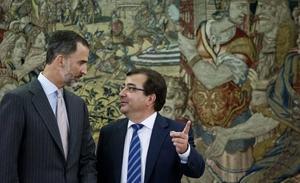 El rey inicia con Vara una ronda de reuniones con los presidentes autonómicos