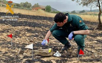 La Guardia Civil investiga por imprudencia grave a un tractorista que originó un incendio forestal en Zafra