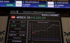 El Ibex 35 recupera los 9.300 puntos gracias a las 'utilities' y los cíclicos