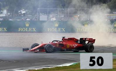 Vettel pierde el rumbo