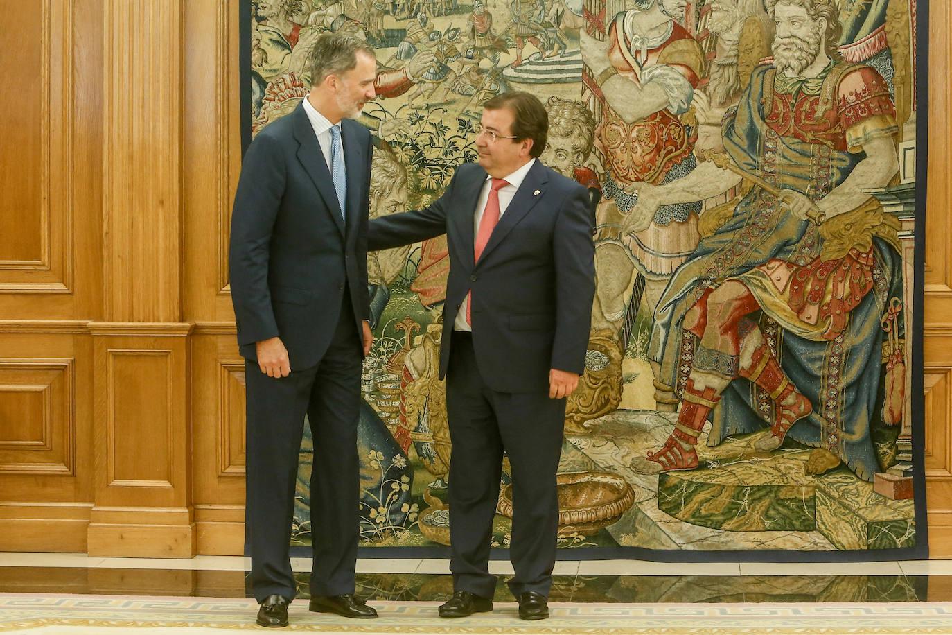 Fernández Vara traslada al Rey los planes de futuro para Extremadura