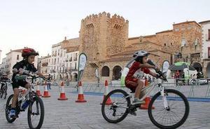Quedada ciclista esta tarde en la Plaza Mayor de Cáceres