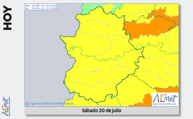Aviso amarillo por altas temperaturas, de hasta 39 grados, este sábado en Extremadura
