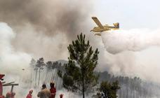 El fuego avanza en el centro de Portugal