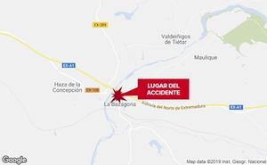 Un varón de 25 años resulta herido tras salirse de la vía y volcar cerca de La Bazagona