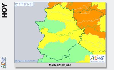 El 112 Extremadura mantiene la alerta amarilla por tormentas este martes en Extremadura