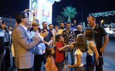 El encendido del ferial abre las fiestas de 'Santiaguito' de Villanueva
