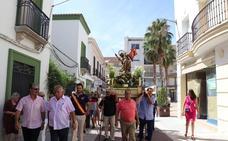 Procesión del patrón en Villanueva