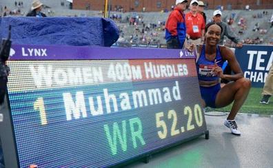 Muhammad bate el récord mundial de 400 vallas de la rusa Pechonkina
