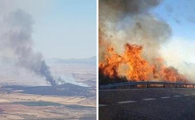 El Infoex lucha contra varios fuegos en Jaraíz, Ibahernando, Calzadilla y Logrosán