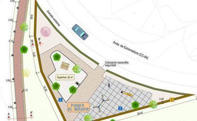 La Diputación recuperará el parque del mirador de Valdeobispo