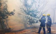 Un nuevo incendio de pastos afecta a la Ronda Norte de Cáceres