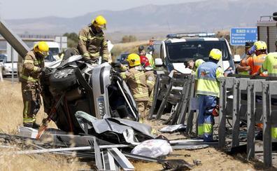 Brutal accidente mortal en la A-66 a la altura de Casar de Cáceres